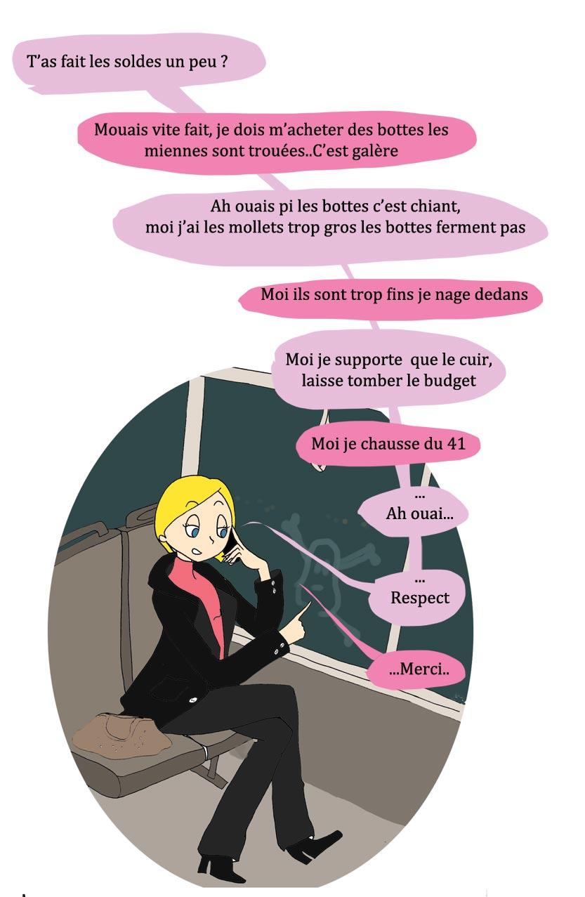 Conversation de fille avec la poulette de bresse