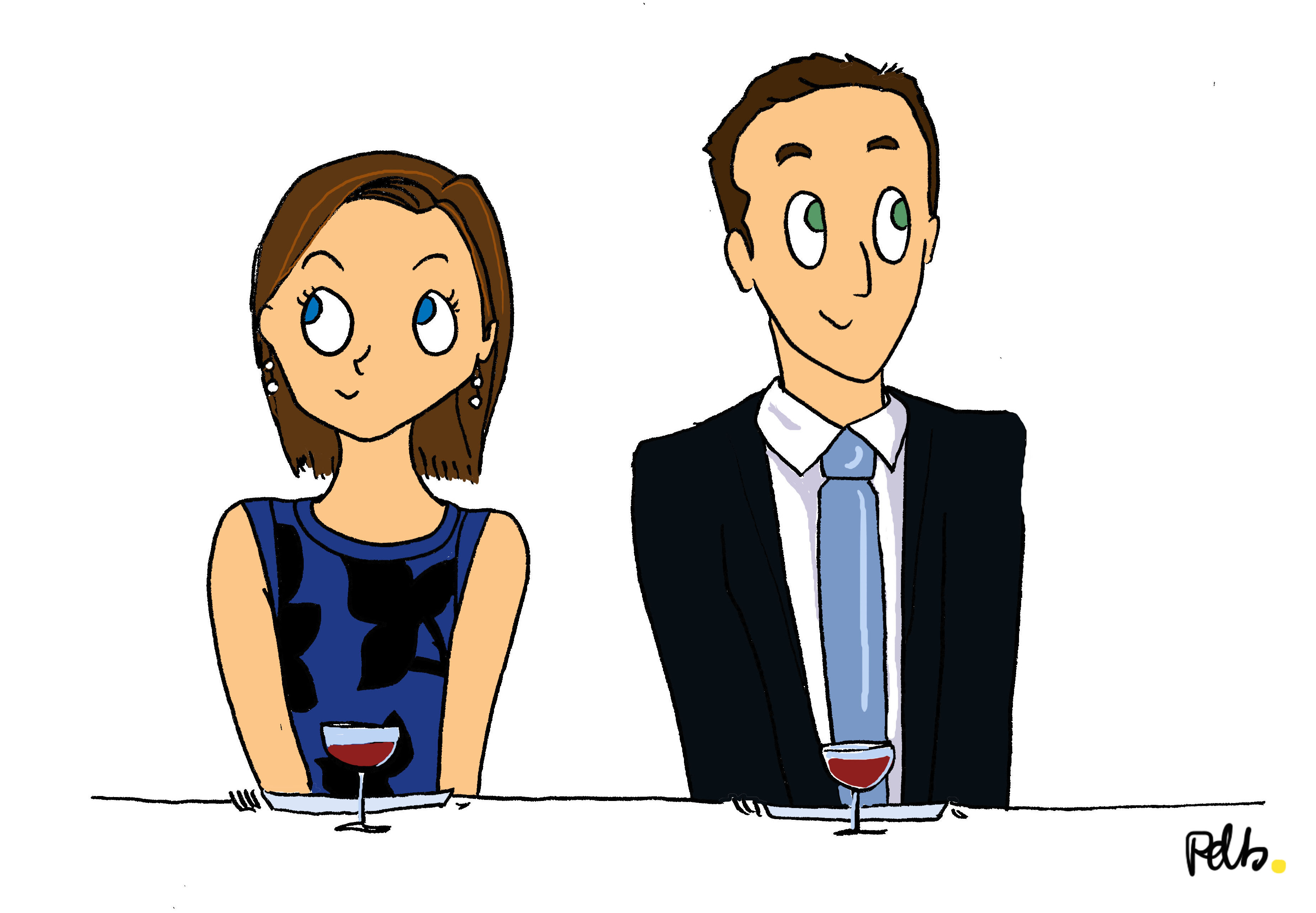 Illustration de mariage - poulette de bresse - la rencontre 2