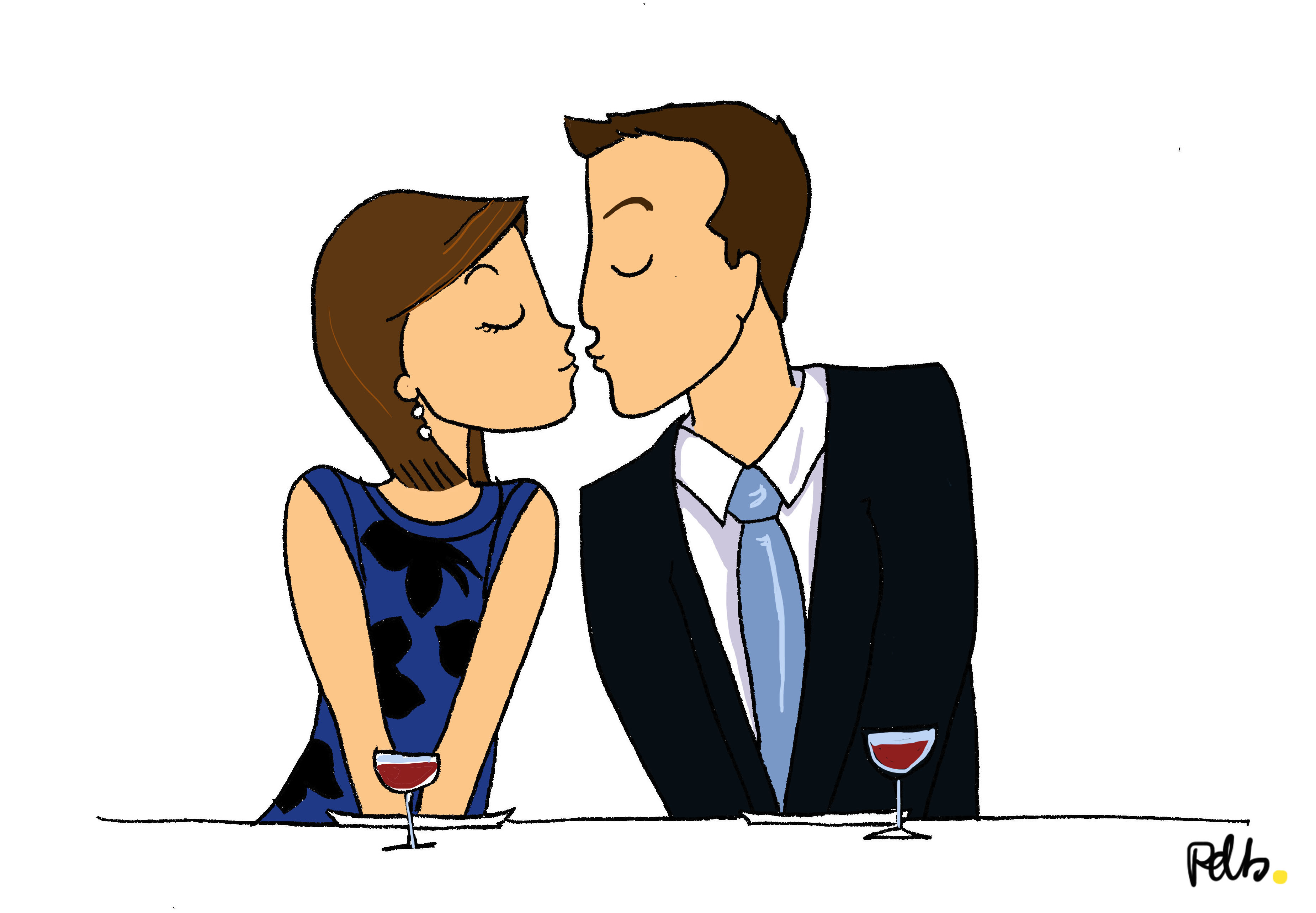 Les mariés se rencontrent - illustration poulette de bresse