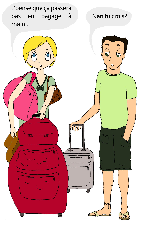 Poulette de bresse fait ses valises, vive les vacances!